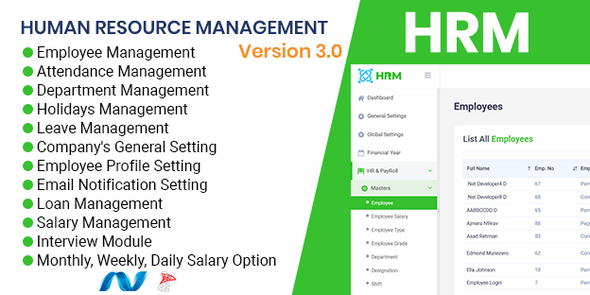 HRMS - Human Resource Management System, ZkTeco BioMetric Time attendance, Salary, Manage employee