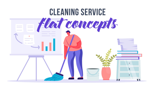 Cleaning service - Flat Concept