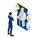 Isometric Businessman have Online Consultation with Doctor - GraphicRiver Item for Sale