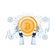 Robot Hand Holding Bitcoin and Other Cryptocurrency - GraphicRiver Item for Sale