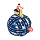Isometric Man Ride Motorcycle on The Road Circled Around The World with Gps Pin - GraphicRiver Item for Sale