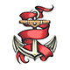 Golden Anchor with Red Ribbon Tattoo - GraphicRiver Item for Sale