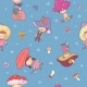 Pattern with Cute Cartoon Gnomes Mushrooms - GraphicRiver Item for Sale