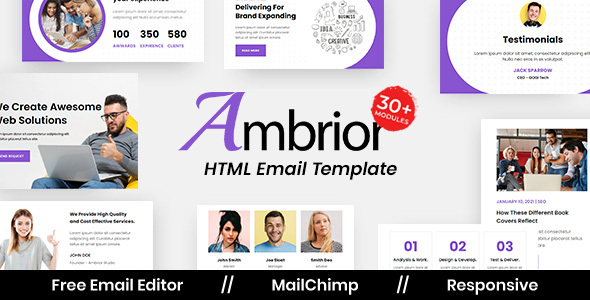 Download Ambrior Agency - Multipurpose Responsive Email Template Nulled