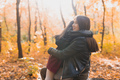 Mother and her little daughter in autumn park in fall season - PhotoDune Item for Sale