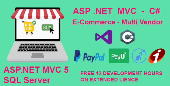ECommerce Website in Asp.net MVC 5 and MsSql