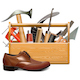 Vector Cobbler Toolbox with Brown Shoe - GraphicRiver Item for Sale