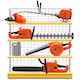 Vector Yellow Shelves with Garden Equipment - GraphicRiver Item for Sale
