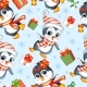 Vector Seamless Pattern with Baby Christmas - GraphicRiver Item for Sale