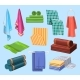 Towels Bathroom and Bathing Fabrics Cloth Textile - GraphicRiver Item for Sale