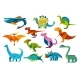 Dinosaurs and Dinos Jurassic Trex Triceratops - GraphicRiver Item for Sale