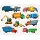 Dump Trucks and Loaders Construction Machinery - GraphicRiver Item for Sale