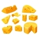 Cheese Heads and Slices or Lumps with Holes - GraphicRiver Item for Sale