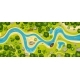 River Top View Landscape Above Forest Aerial Map - GraphicRiver Item for Sale