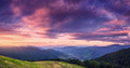 Mountains at beautiful sunset in summer. Colorful landscape - PhotoDune Item for Sale