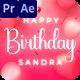Happy Birthday Sandra - VideoHive Item for Sale