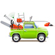 Vector Green Pickup Truck with Garden Equipment - GraphicRiver Item for Sale