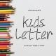 Kids Letter Unique Display Font - GraphicRiver Item for Sale