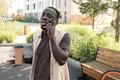 African American Guy Talking On Phone - PhotoDune Item for Sale