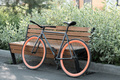 Bicycle Parked Against Bench - PhotoDune Item for Sale
