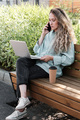 Modern Woman Working Outdoors - PhotoDune Item for Sale