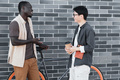Stylish Man And Woman Chatting - PhotoDune Item for Sale