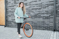 Woman Walking With Bicycle - PhotoDune Item for Sale