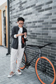 Modern Asian Woman With Bicycle - PhotoDune Item for Sale
