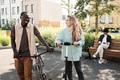 Modern Multi-ethnic Couple Outdoors - PhotoDune Item for Sale