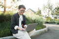 Modern Asian Woman With Laptop - PhotoDune Item for Sale