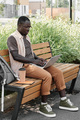 African American Man Working Outdoors - PhotoDune Item for Sale