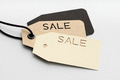 Price tags with die cut SALE text - PhotoDune Item for Sale