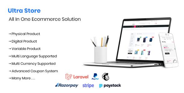 Ultra Store - Multi Language Ecommerce System