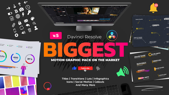 Motion Graphic Pack for Davinci Resolve