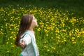 Girl among blooming mountain meadow - PhotoDune Item for Sale