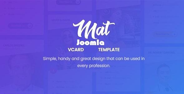 Mat - vCard & Resume Joomla Template