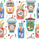 Seamless Pattern with Delicious Vegan Drinks - GraphicRiver Item for Sale