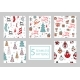 Set of Seamless Patterns with Christmas Elements - GraphicRiver Item for Sale