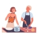 Couple Cooking Together - GraphicRiver Item for Sale
