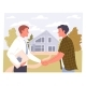 Agent and Man Shake Hands on a Real Estate - GraphicRiver Item for Sale
