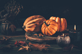 Still life for Thanksgiving with pumpkins and autumn leaves - PhotoDune Item for Sale