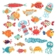 Cute Flat Fish - GraphicRiver Item for Sale