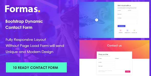 Formas - Bootstrap Dynamic Contact Form