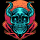 Devil Skull With Moon - GraphicRiver Item for Sale