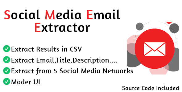 Social Media Email Extractor Pro
