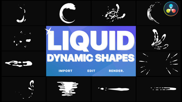 Dynamic Liquid Shapes | DaVinci Resolve