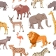 African Savannah Wild Animal Seamless Pattern - GraphicRiver Item for Sale