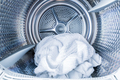 Inside of tumble dryer with clean white towels - new generation of dryer - PhotoDune Item for Sale
