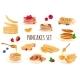Realistic Pancakes Set - GraphicRiver Item for Sale