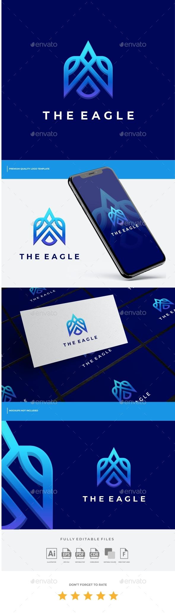 Eagle Line Gradient Logo Template